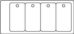 PC39 - 4 Key Tag Set